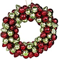EarthenMetal Handcrafted Multicoloured (Red And Green) Decorative Glass Ball Ring (Set Of 160 Glass Balls /Rings)