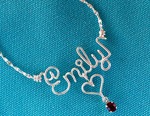 name-necklacepersonalised-silver-necklace-or-ankletwire-nameswarovski-birthstonelove-heart-cross-sta