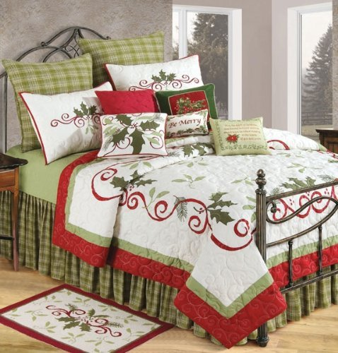 C-F-Enterprises-Holiday-Garland-Holiday-Quilt