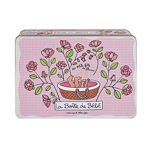 Boîte à bébé fille en fleurs Derrière La Porte DLP - Rose - Rose