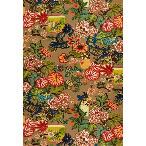 Amazon.com: Chiang Mai Dragon Mocha by F Schumacher Fabric