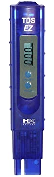 HM Digital TDS-EZ Water Quality TDS Tester, 0-9990 ppm Measurement Range , 1