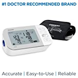 OMRON Gold Blood Pressure Monitor, Premium Upper Arm Cuff, Digital Bluetooth Blood Pressure Machine, Storesup to 120 Readings for Two Users (60 Readings Each) (Color: Gold)