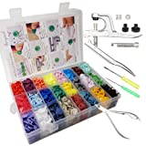 Horiznext Plastic Buttons Pliers Set with 24 Colors KAM Snaps Cloth Diaper Inserts Fasteners Including 360 Snaps dismounting and Assembling Tools