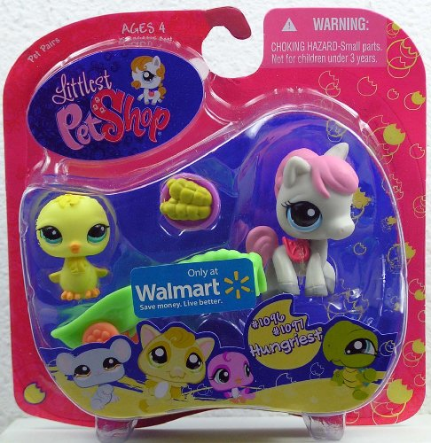 Buy Low Price Hasbro Littlest Pet Shop Exclusive Hungriest Pet Pairs Figures Baby Chick and Pony with Corn (B002KN7H6A)