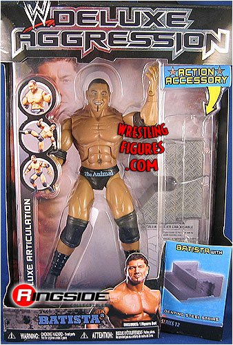 Picture of Jakks Pacific W Deluxe Aggression Series 12 Action Figure + Action Accessory - Batista (B0013TJ6PW) (Jakks Pacific Action Figures)