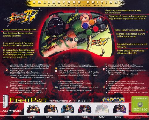 Mad Catz Street Fighter IV Round 2 FightPad - Cammy (Xbox 360)