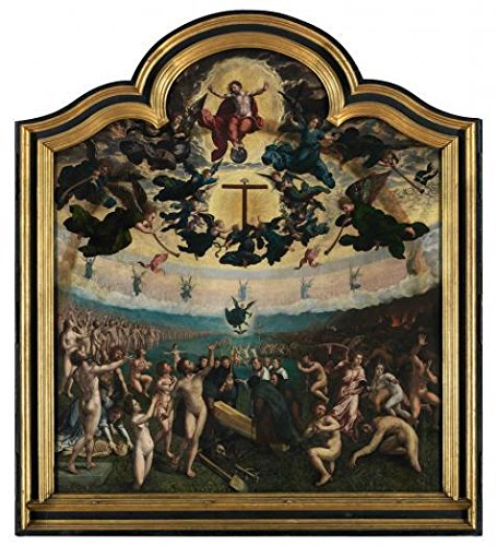 Oil Painting 'Middle Part Of Last Judgement And The Seven Acts Of Mercy, 1524 By Bernard Van Orley' 12 x 13 inch / 30 x 33 cm , on High Definition HD canvas prints, Bath Room, Gym And Home Off decor (Upright Elephant Ear Bulbs compare prices)
