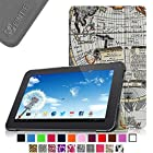 Fintie Slim Shell Case Cover for 10'' Android Tablet inclu. Dragon Touch A1 10.1,NeuTab® N10 10.1'' Quad Core Google Android, iRulu 10.1 inch Android Tablet PC(A20), Tagital® T10 10.1, Contixo Q102 10.1, Poofek 10.1 inch Google Android Tablet 32GB / A31S, ProntoTec Nepro 10S 10 inch Quad Core Android 4.4 Tablet PC, NEW Polatab Elite Q10.1 Android 4.4 Kitkat Tablet PC/ Cheapest 10 inch Tablet, ValuePad VP112 10, Shamo's New 10.1 Inch Google Android 4.4 Kitkat Tablet PC, Epassion E1 10.1, TouchTab 10.1, Amar®10.1 Inch Android 4.2 Tablet PC A20 (PLEASE check the complete compatible tablet list under Product Description) - Map Design