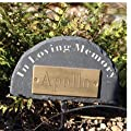 Natural Slate Pet In Loving Memory Half Round Memorial Plaque