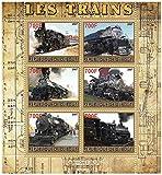 Tren sellos para coleccionistas - trenes de vapor - 6 sellos de colección que ofrece trenes - Ideal para la recogida - excelentes condiciones - Mint NH