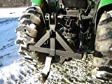 Tractor Three Point Receiver Hitch with Chain Grab Hook