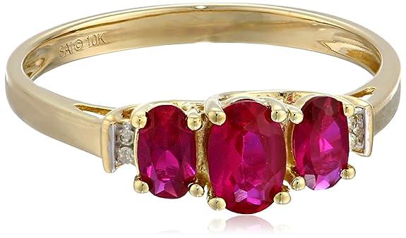 0k-Yellow-Gold-Birthstone-Three-Stone-Diamond-Accented-Ring