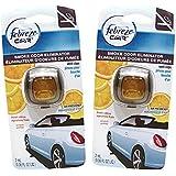Febreze Car Vent Clips Air Freshener Smoke Odor Eliminator, Citrus Scent 2 Pack