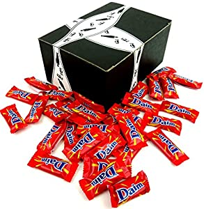 Daim Crunchy Caramel Candy Pieces, 7.05 oz Bag in a Gift Box