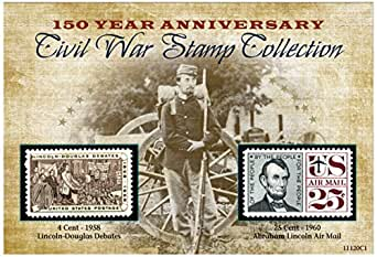 American Coin Treasures 150th Anniversary Civil War Commemorative Stamp Collection