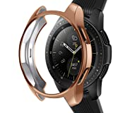 Case Compatible Samsung Galaxy Watch 42mm, NaHai Slim Plated TPU Case Scratch-Proof Cover Shatter-Resistant All-Around Protective Bumper Shell for Galaxy Watch 42mm SM-R810 Smartwatch,Rose Gold (Color: Rose Gold, Tamaño: (42mm)SM-R810)