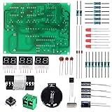 Aoicrie 6-Digit DIY Digital Electronic Clock Kit AT89C2051 Chip Alarm Clock Kit PCB Soldering Practice Learning Kits (Color: 6-digit)