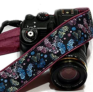 Butterflies Camera Strap. SLR/DSLR Nikon Canon Camera Strap. Gift for Her. Camera Accessories by LiVe Design; 107