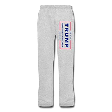 Amazon.com: Men's Donald Trump Presidential Logo Running Pants Ash ...