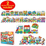 The Learning Journey Puzzle Doubles Giant ABC & 123 Train Floor Puzzle