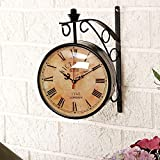 Collectible India 8 Inch Dial Vintage Wall Clock / Black Station Clock / Antique Clock Like Brass Wall Clock /...