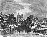 CÔTES-D'ARMOR: Cotes-Du-Nord: Guingamp, antique print, 1881