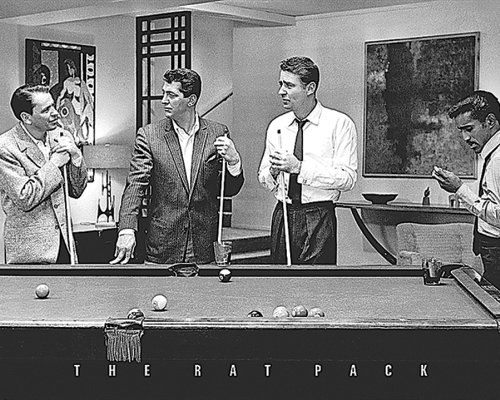 The Rat Pack Shooting Pool (Frank Sinatra, Dean Martin, Peter Lawford, Sammy Davis JR.) Classic Hollywood Celebrity Icons Poster Print 16x20 (16x20 Print) (Classic Movie Pictures compare prices)