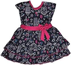 Be BeBo Girl's Cotton Dress (848, Dark blue, 1 Year )