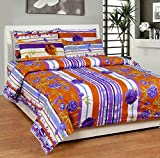 Soni Traders Floral Print Polycotton Double Bedsheet With 2 Pillow Covers (BST_178)