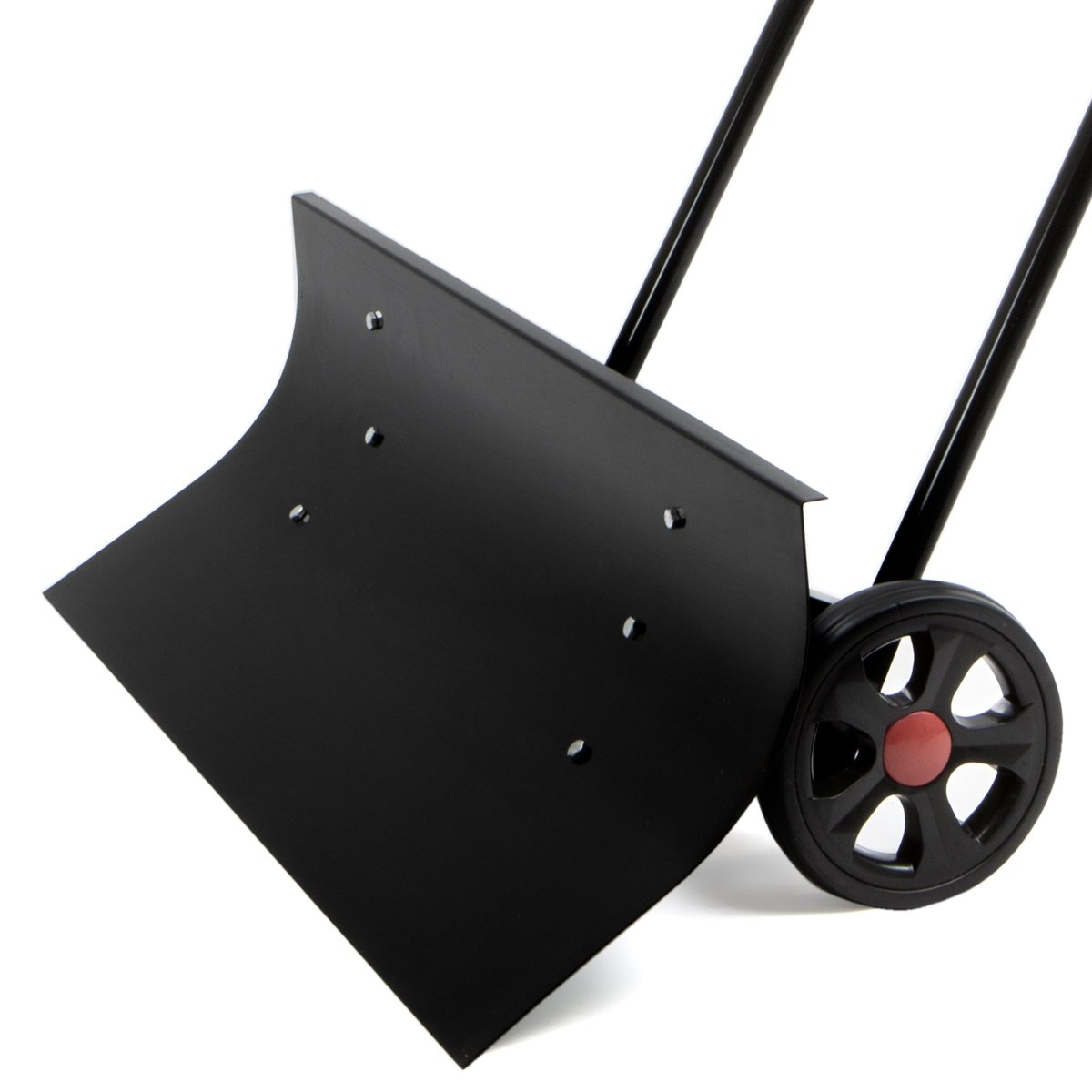 XtremepowerUS Wheeled Snow Shovel Pusher Bi-Directional, Black