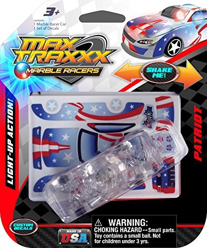 Max Traxxx Patriot Light Up Marble Racer Car