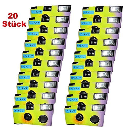 PHOTO PORST Lot de 20 appareils photo jetables pour 27 photos avec flash
