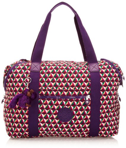 Kipling Art M Medium Travel Tote Bag K01362A39 Triangle TR PR