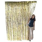 Metallic Gold Foil Fringe Curtain. 3...