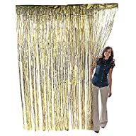 Metallic Gold Foil Fringe Curtain. 3…