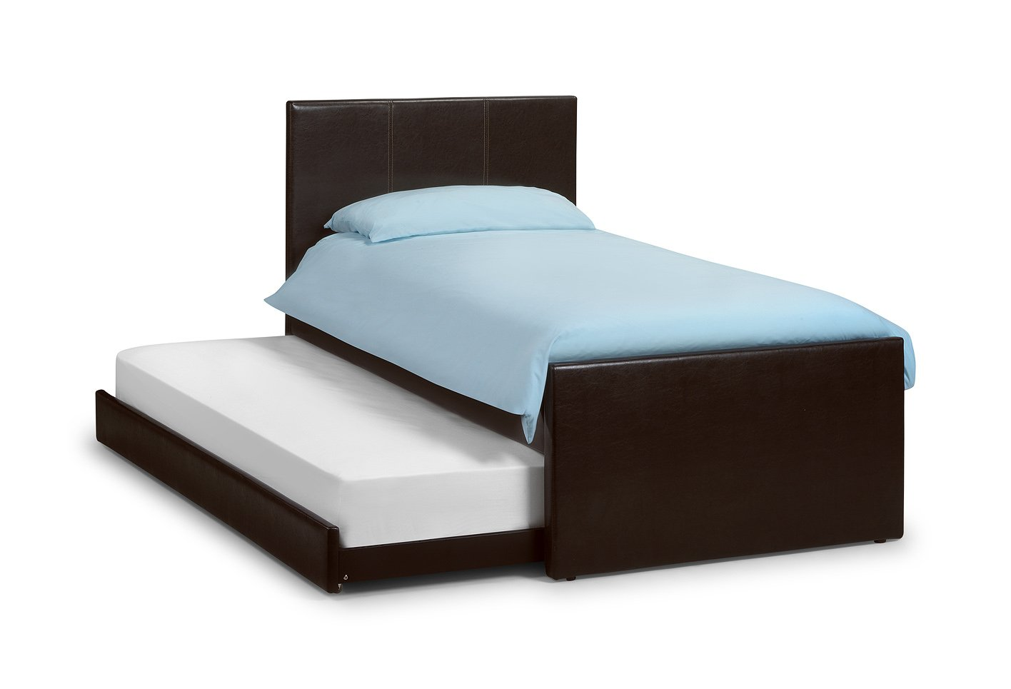 Cosmo Brown Guest, 3ft Single, Quality Leather Pull out Guest Bed Frame       reviews and more information