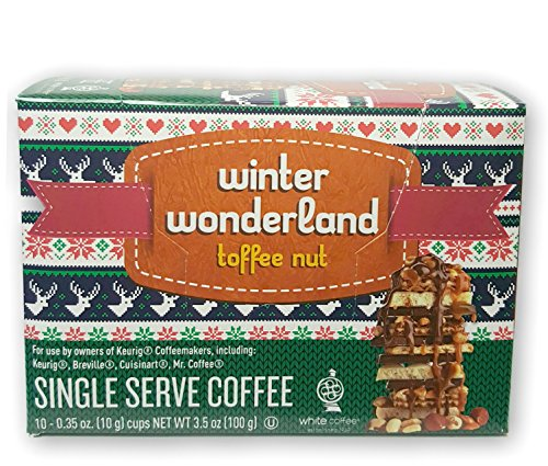 White Coffee Holiday Toffee Nut Single Serve Coffee K-Cup 10/.35oz (Toffee Nut) (Gingerbread Coffee K Cup compare prices)