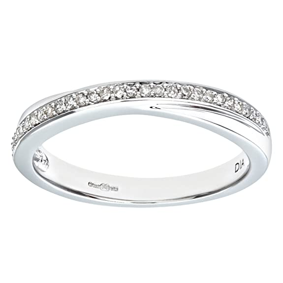 Naava 0.13 Carat I Diamond Pave Setting Eternity Ring in 9ct