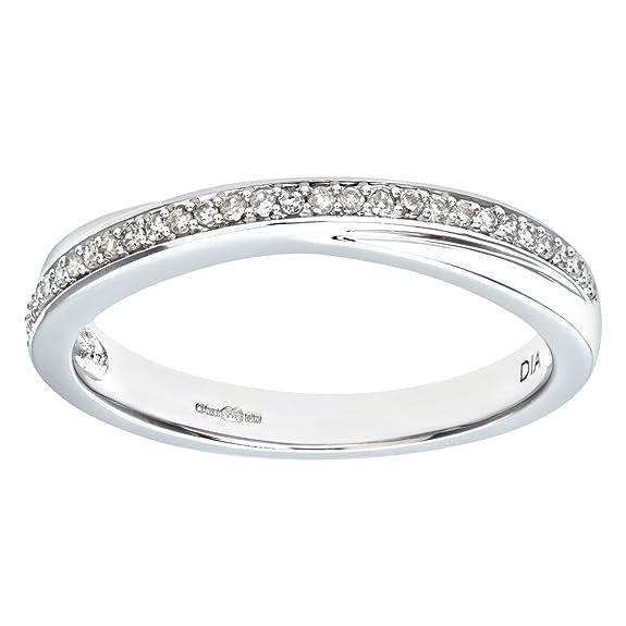 Naava 0.13 Carat I Diamond Pave Setting Eternity Ring in 9ct