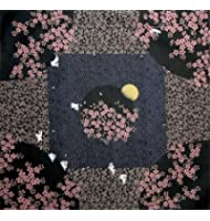 風呂敷 夜桜うさぎ(黒)50cm