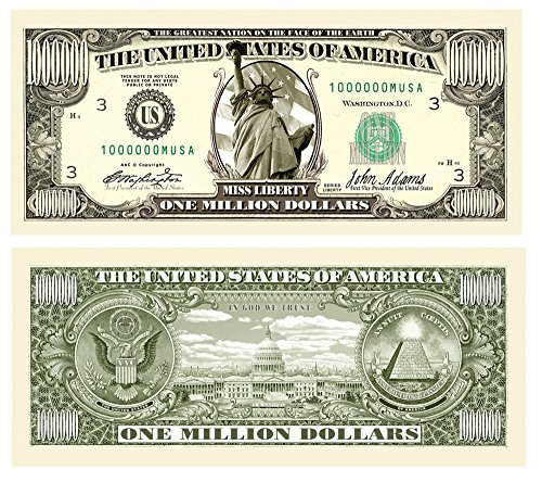 Set of 10 - Traditional Million Dollar Bill