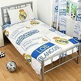 海外サッカー 公式 オフィシャル / シングルサイズ 掛布団カバー・枕カバー セット 全8種 (Real Madrid CF / レアル・マドリード) [並行輸入品]