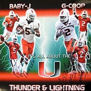 Javarris James & Graig Cooper Autographed 16x20 Miami Hurricane Photo -... by Sports+Memorabilia