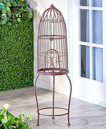 Rustic Vintage Style Birdcage od Stand Shabby Chic Country Spring Planter Flowerpot Holder Garden Decor 1