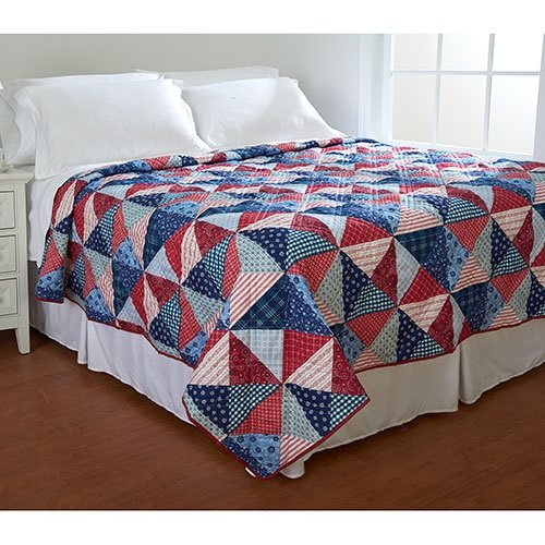 Ashley Cooper Lauren Print Quilt in Queen Size 86 In X 86 In