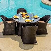 Peachy Lowprie Providence 4 Person Resin Wicker Patio Dining All Lamtechconsult Wood Chair Design Ideas Lamtechconsultcom
