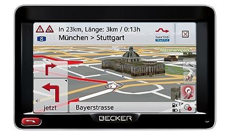 Becker Professional 50 LMU GPS - de 12,7 cm (5'' pouces), 44 pays en Europe, noir/argent