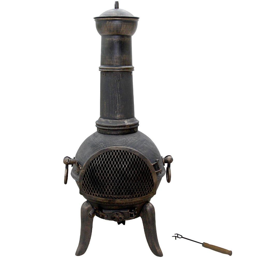 <p>Estufa de hierro fundido de 100cm de altura para exterior</p>