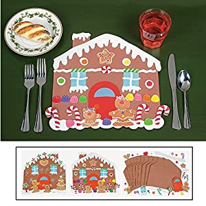 Design your own gingerbread house place mats for Table mats design your own